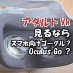 アダルトVRを見るならスマホ向けVRゴーグルとOculus Goどっちが良いのか