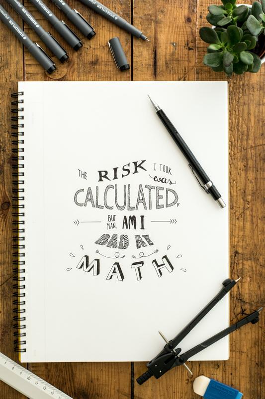 計算済のリスクだったけど算数が苦手な事を忘れてたと書かれたノート