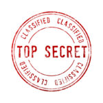 TOP SECRETと書かれたスタンプ